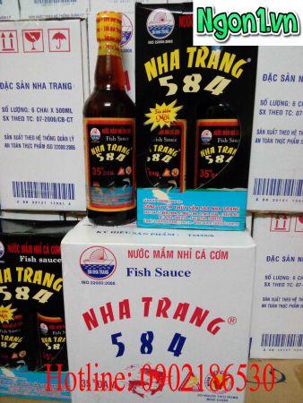 Nước mắm Nha Trang 35 độ đạm chai thủy tinh 500ml