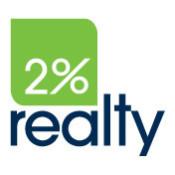 2 percent realty logo pms