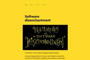 screenshot of Software disenchantment