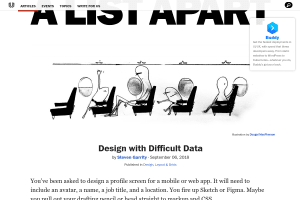 screenshot of Design with Difficult Data