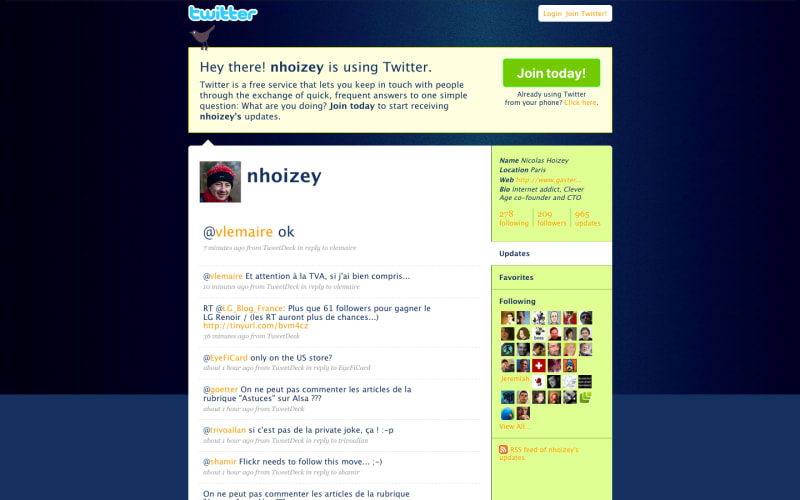 100000 tweets – Nicolas Hoizey