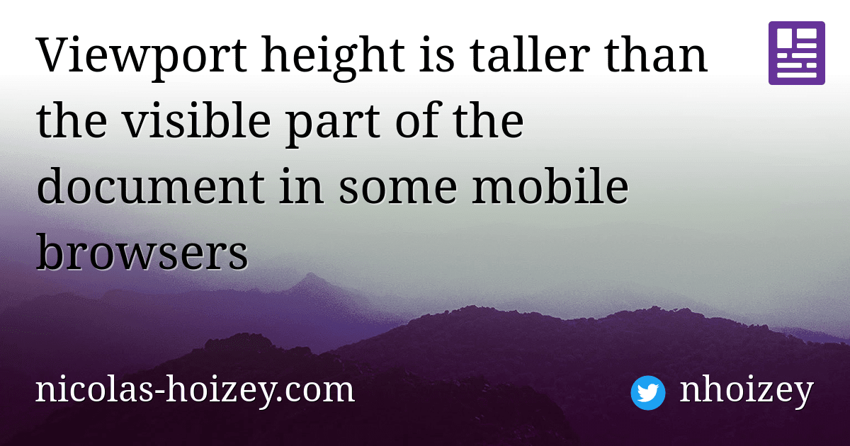 Viewport height is taller than the visible part of the