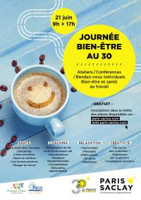 Journée bien-être au «30», Paris Saclay le 21 juin 2019, par Precious Prana