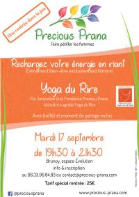 Atelier Yoga du Rire le 17 septembre 2019, par Precious Prana
