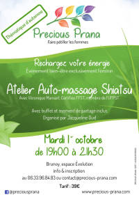 Atelier auto-massage shiatsu le 1 octobre 2019, par Precious Prana