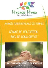 """Une séance """"Bain de Gong"""" aux femmes pour la journée internationale des femmes le 8 mars 2020, par Precious Prana"""