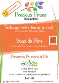 Atelier Yoga du Rire à Egly  le 15 mars 2020, par Precious Prana