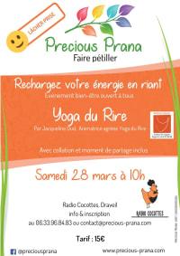 Atelier Yoga du Rire à Draveil - REPORTE  le 28 mars 2020, par Precious Prana