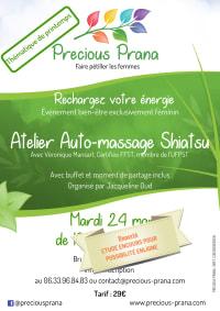 """Atelier """"Do-In"""" Automassage Shiatsu pour le printemps - REPORTE temporairement le 24 mars 2020, par Precious Prana"""