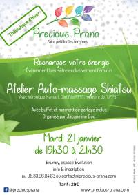 Atelier auto-massage shiatsu le 21 janvier 2020, par Precious Prana