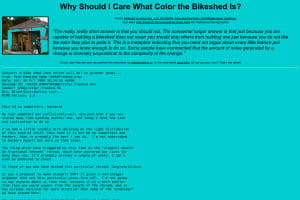 screenshot of Why Should I Care What Color the Bikeshed Is?