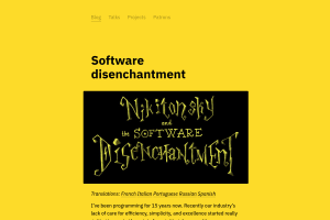 screenshot of Software disenchantment