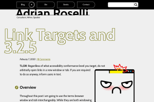 screenshot of Link Targets and 3.2.5