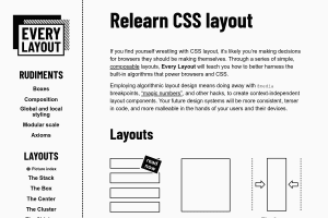 screenshot of Every Layout: Relearn CSS layout