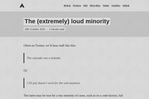 screenshot of The (extremely) loud minority