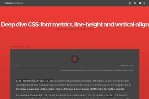 screenshot of Deep dive CSS: font metrics, line-height and vertical-align