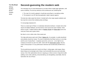 screenshot of Second-guessing the modern web