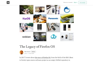 screenshot of The Legacy of Firefox OS
