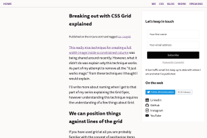 screenshot of Breaking out with CSS Grid explained