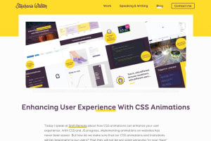 screenshot of Enhancing User Experience With CSS Animations