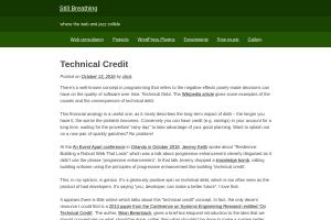 screenshot of Technical credit
