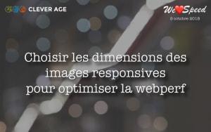 """Cover slide from the talk """"Optimiser la performance par un choix optimal des dimensions des images responsives"""""""