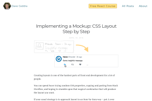 screenshot of Implementing a Mockup: CSS Layout Step by Step