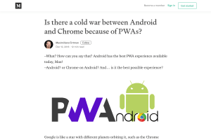 screenshot of Is there a cold war between Android and Chrome because of PWAs?