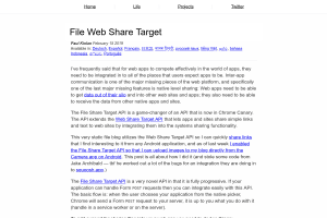 screenshot of File Web Share Target