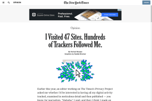 screenshot of I Visited 47 Sites. Hundreds of Trackers Followed Me.