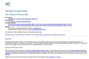 screenshot of The Rule of Least Power
