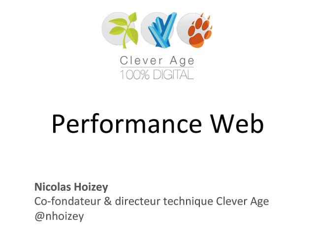 """Cover slide from the talk """"Web UX - Performance Web"""