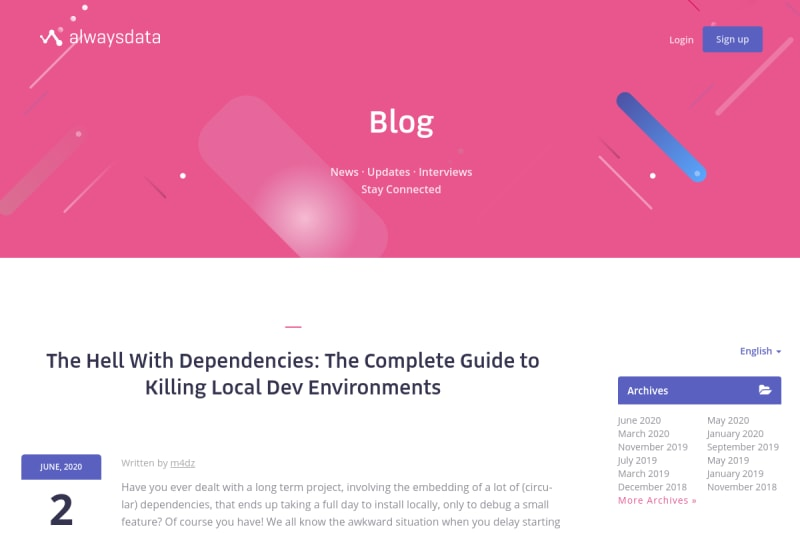 screenshot of The Hell With Dependencies: The Complete Guide to Killing Local Dev Environments