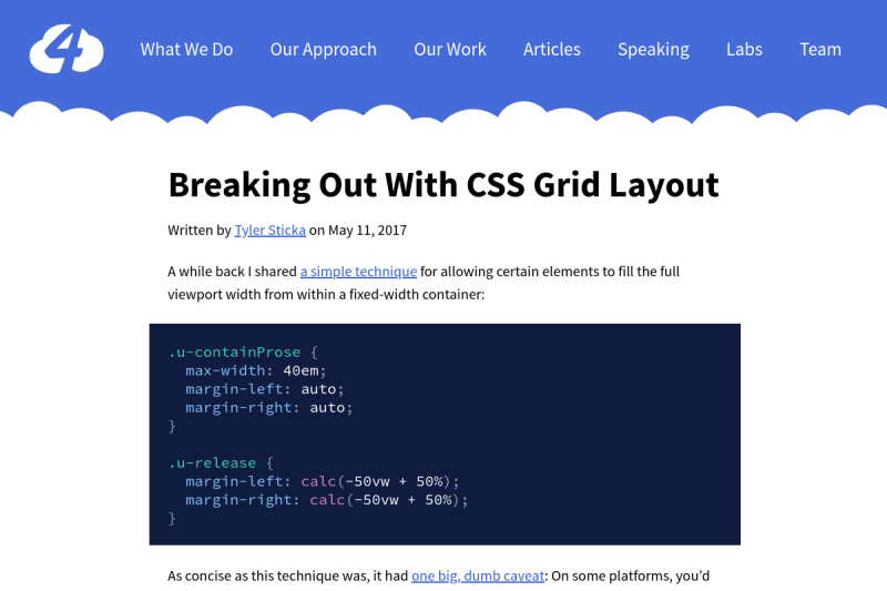 screenshot of Breaking Out With CSS Grid Layout
