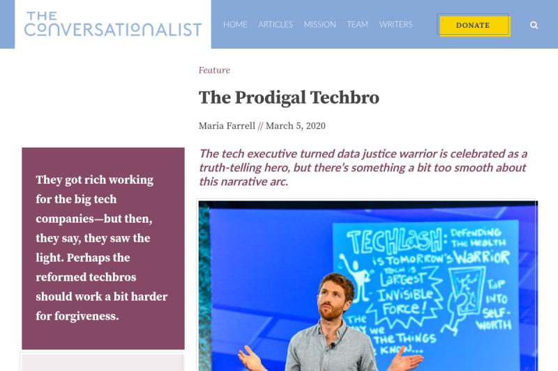 screenshot of The Prodigal Techbro