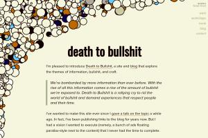 "Screenshot of ""Death to bullshit"""