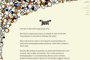 screenshot of Just