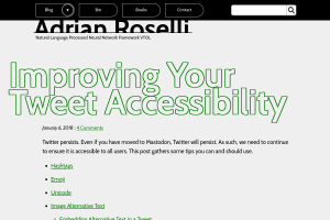 "Screenshot of ""Improving Your Tweet Accessibility"""