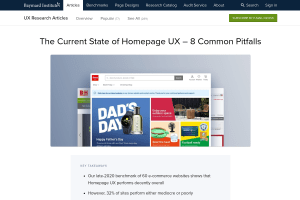 screenshot of The Current State of Homepage UX – 8 Common Pitfalls