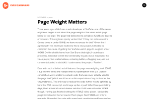 screenshot of Page Weight Matters