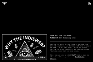 screenshot of Why The IndieWeb?
