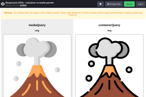 screenshot of Responsive SVGs - container vs media queries