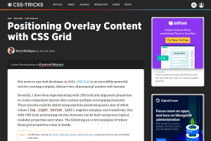 screenshot of Positioning Overlay Content with CSS Grid