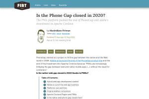"Screenshot of ""Is the Phone Gap closed in 2020?"""