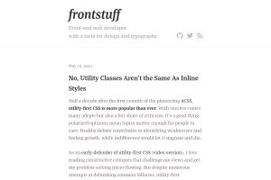 screenshot of No, Utility Classes Aren't the Same As Inline Styles