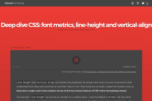 screenshot of Deep dive CSS: font metrics, line-height and vertical-align