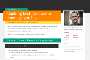 screenshot of Caching best practices & max-age gotchas