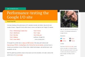 screenshot of Performance-testing the Google I/O site