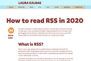 "Screenshot of ""How to read RSS in 2020"""