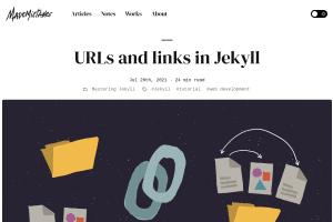"Screenshot of ""URLs and links in Jekyll"""
